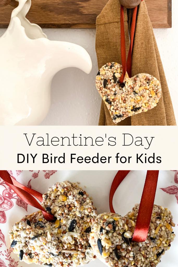 Valentine's Day DIY Bird Feeder For Kids