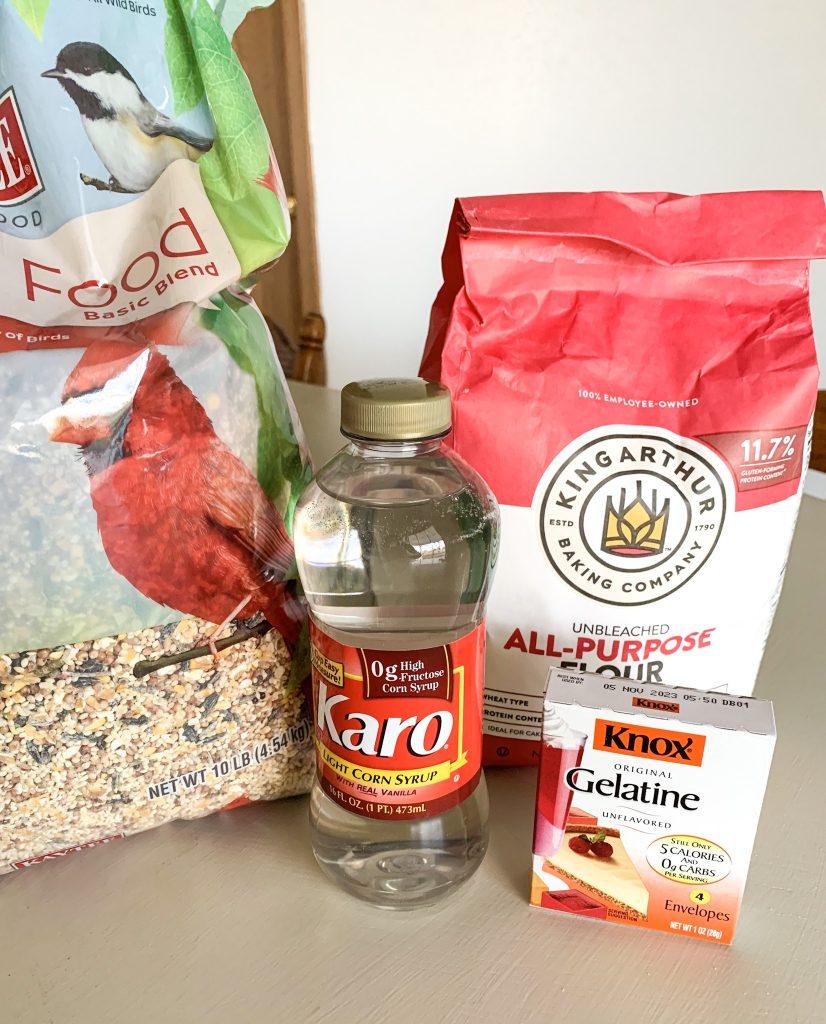 DIY Bird Feeder For Kids Ingredients