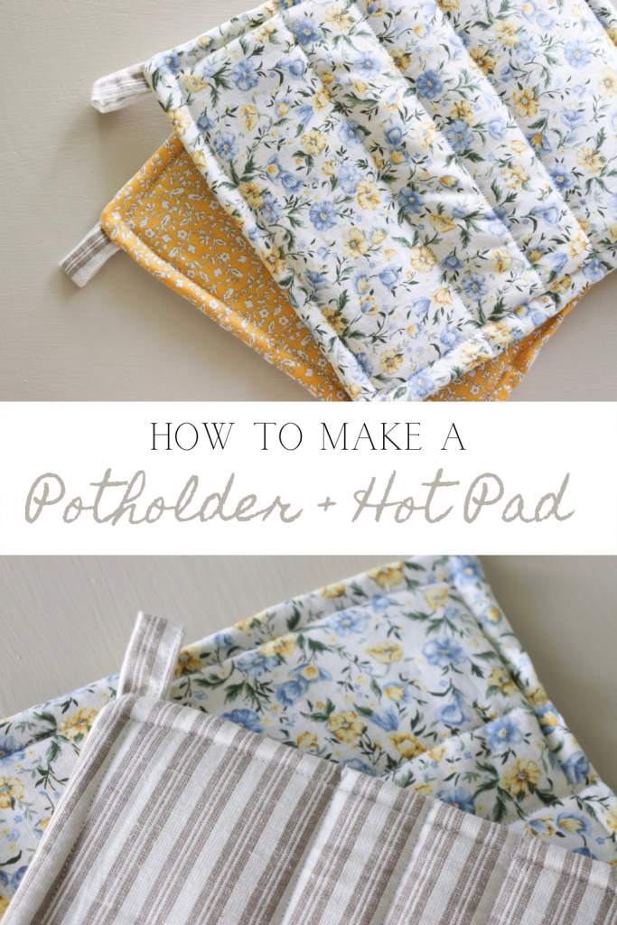 How to make a potholder with scrap fabric