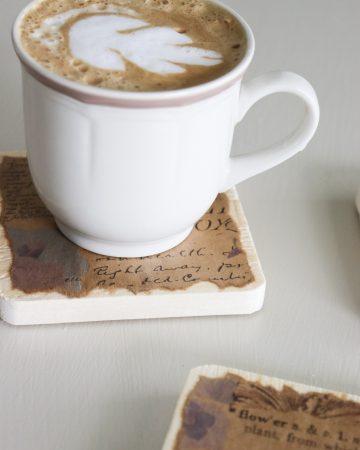 How to make coffee coasters
