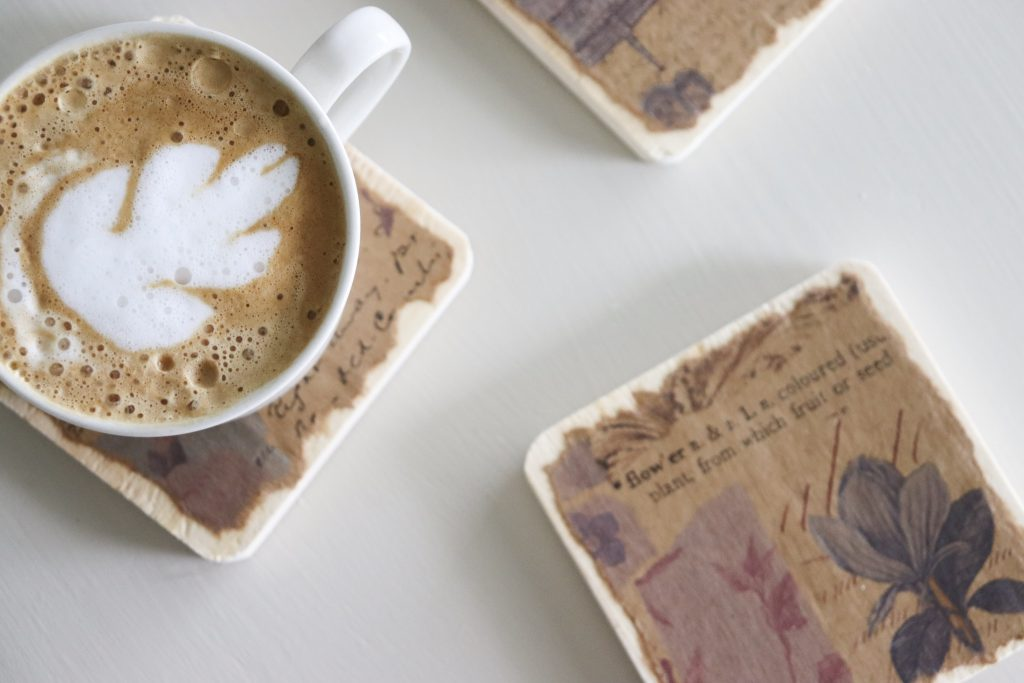 How to make your own coffee coasters